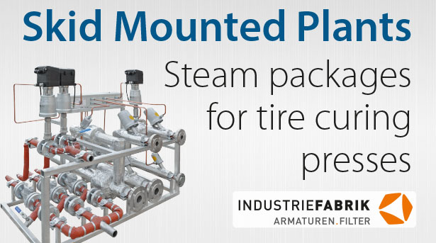 Piping steam packages for tire curing presses