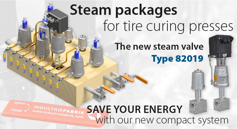 Compact system steam packages for tire curing presses 01