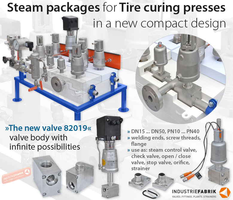 Compact system steam packages for tire curing presses 03